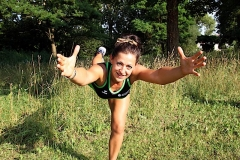 Julija Mossbrugger - trainiert Sportgruppen in Engen, Hilzingen und Gottmadingen im Freien.