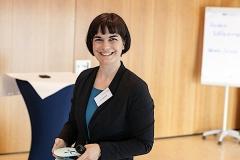 Ursula Schulz, Teamschulz, bei den Wirtschaftsjunioren in Singen