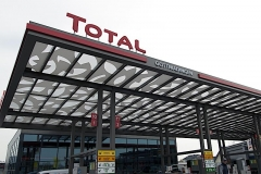Total-Tankstelle eröffnet am 26. Oktober 2015