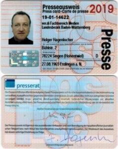 Presseausweis Holger Hagenlocher