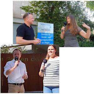 Live Reporter Holger Hagenlocher vom Redaktionsbüro Hagenlocher bei zwei Interviews
